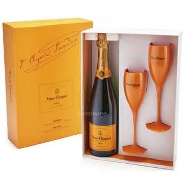 champagne veuve clicquot brut con 2 copas